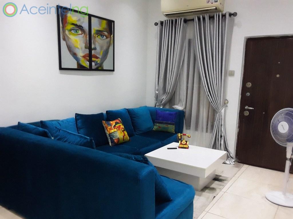 5 bedroom duplex for shortlet in chevron lekki lagos - second living room