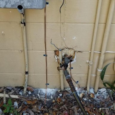 Electric Ground Wire Install