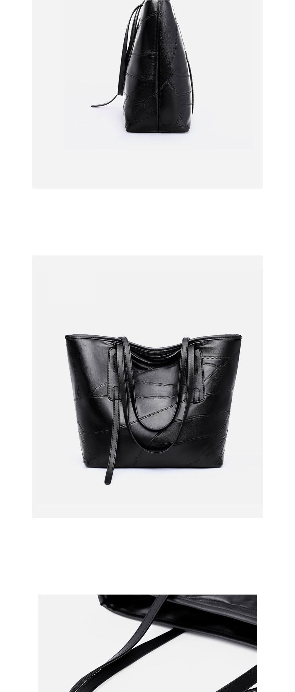 ACELURE Solid Colour High Capacity Casual Tote Bag