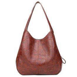 Angry Orchard Leather Bolsa Black Handbag
