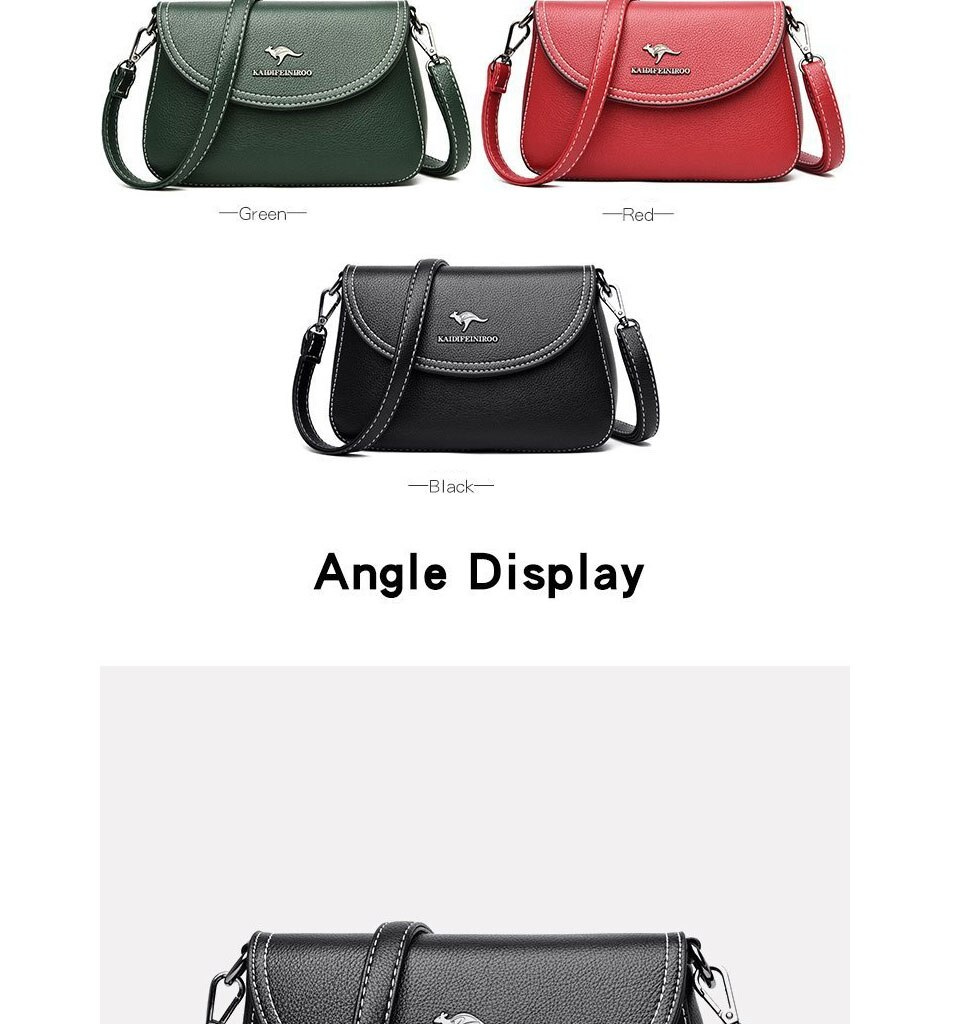 ACELURE Women Small Crossbody Messenger Bags Hot Sale Ladies Party Sling Shoulder Bag Purse Designer Solid PU Leather Tote Bags