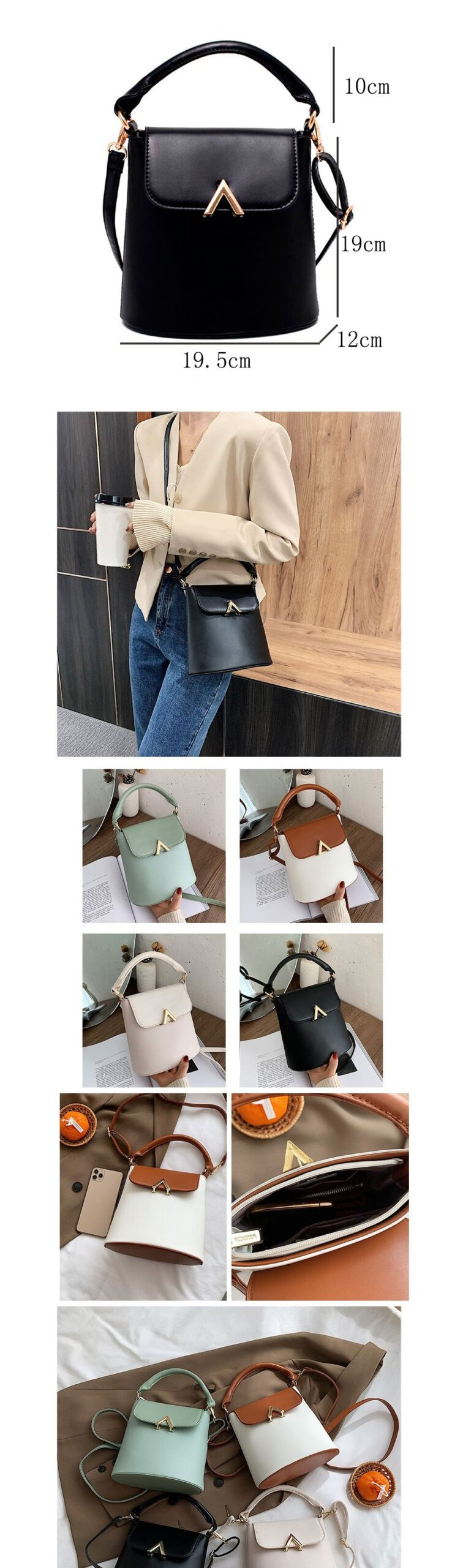 Women Faux Leather Tote Crossbody Shoulder Bag