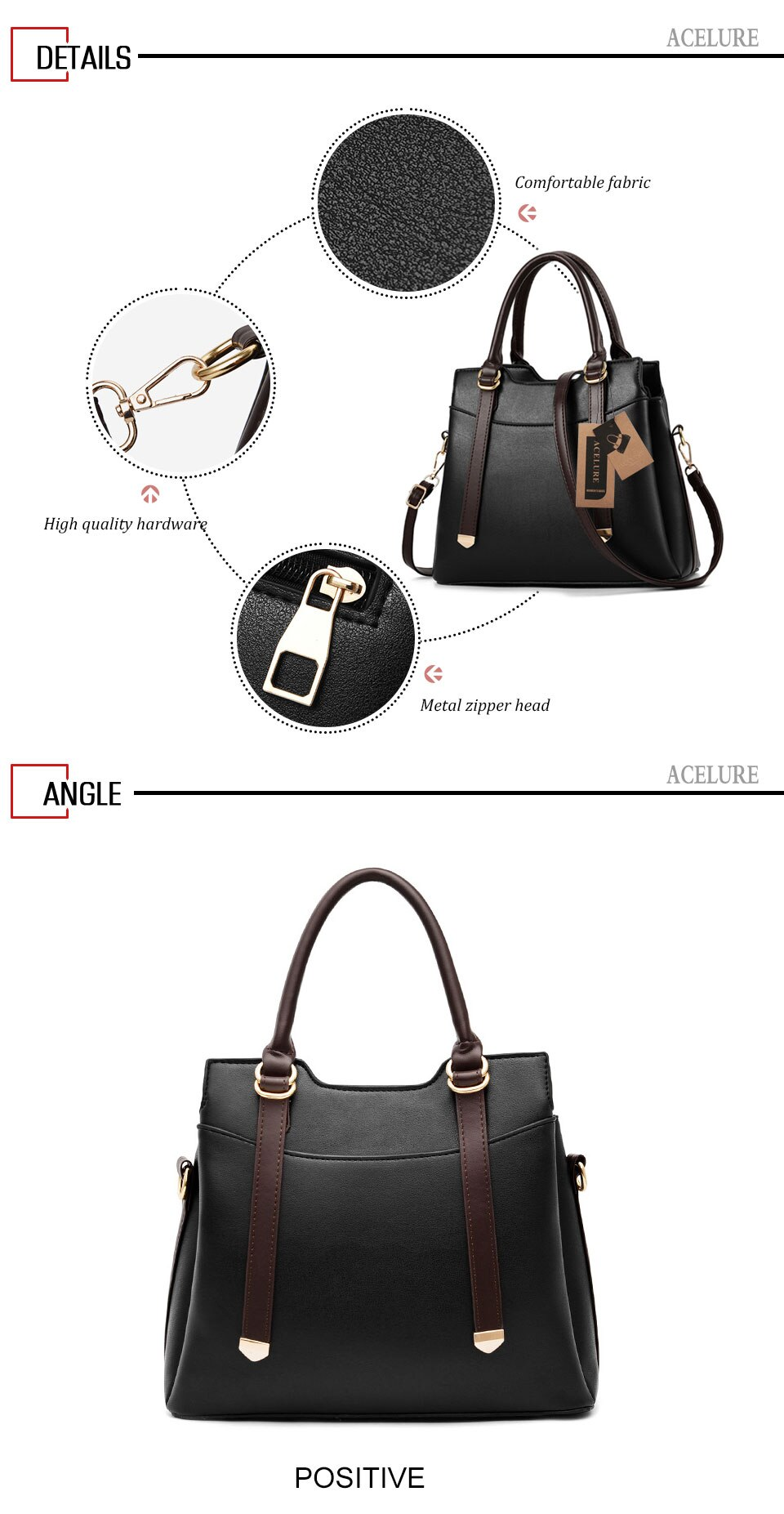 Solid Color Womens Hard Handle Saffiano Bag