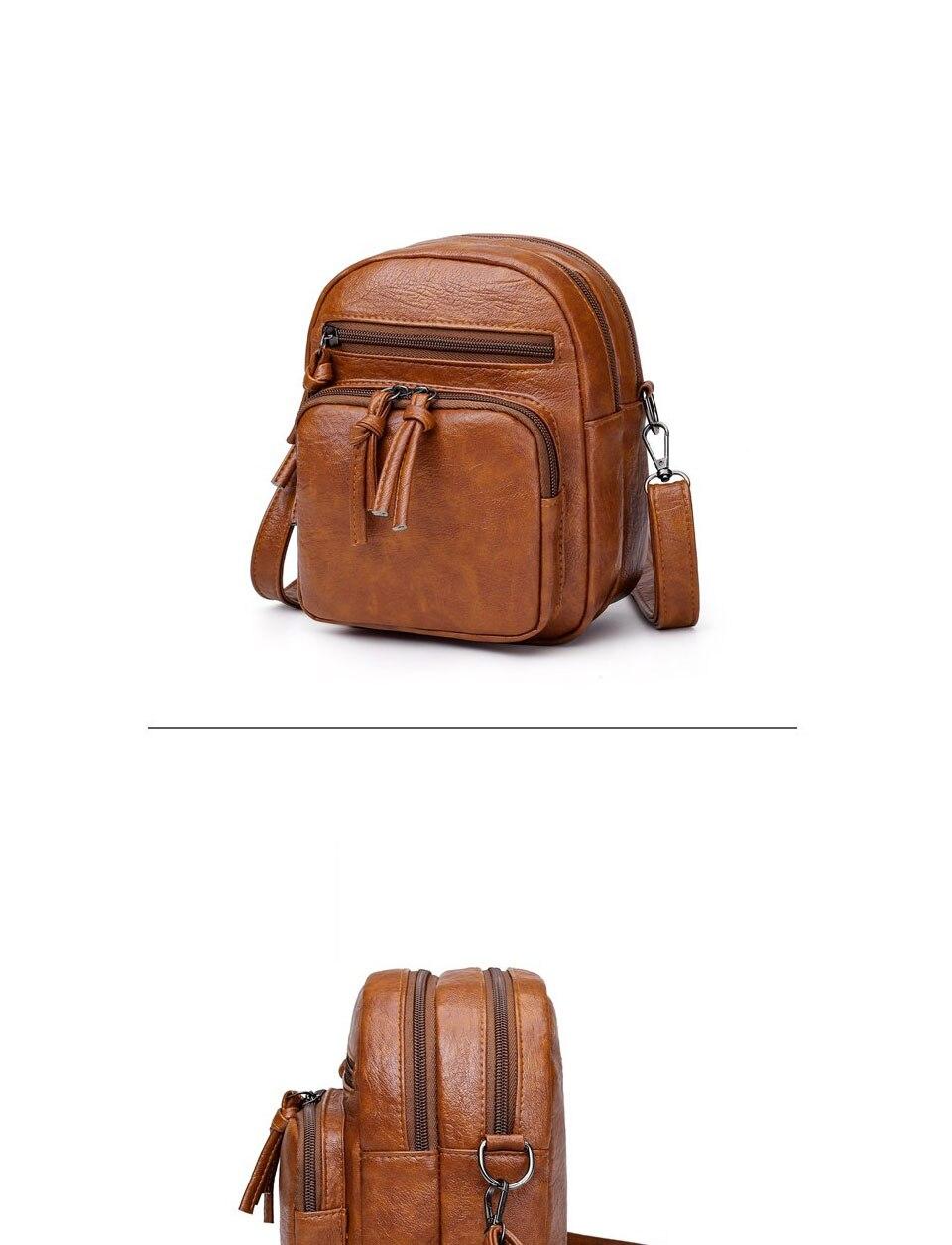 ACELURE Vegan Leather Mini Backpack