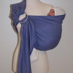 Storchenwiege® sling z obročki Leo Flieder 1