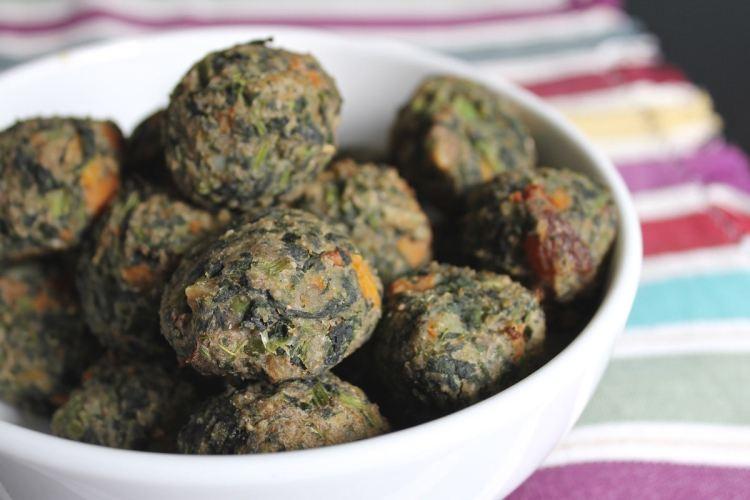 Polpette di spinaci e farina di fagioli borlotti