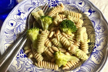 Fusilli integrali con pesto di broccoli