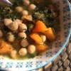 Zuppa di cavolo nero, zucca e ceci