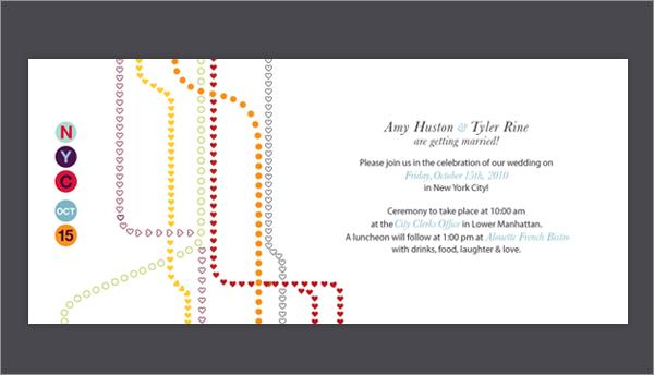 Nyc Subway Wedding Invitation