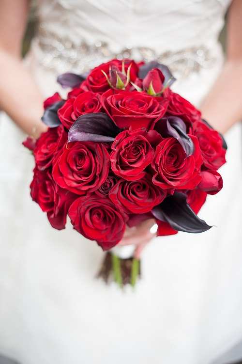 Exceptional Black Magic Rose Calla Bouquet