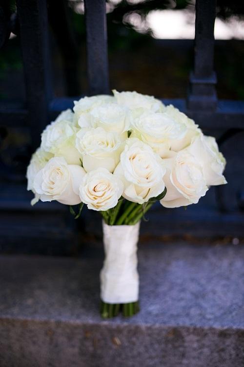 Cream Rose Bridal Bouquet