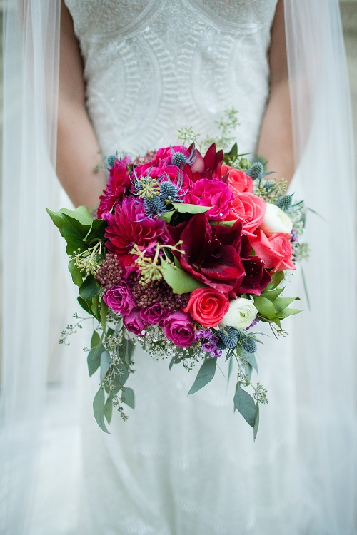 pink-red-bridal-bouquet-blue-thistle