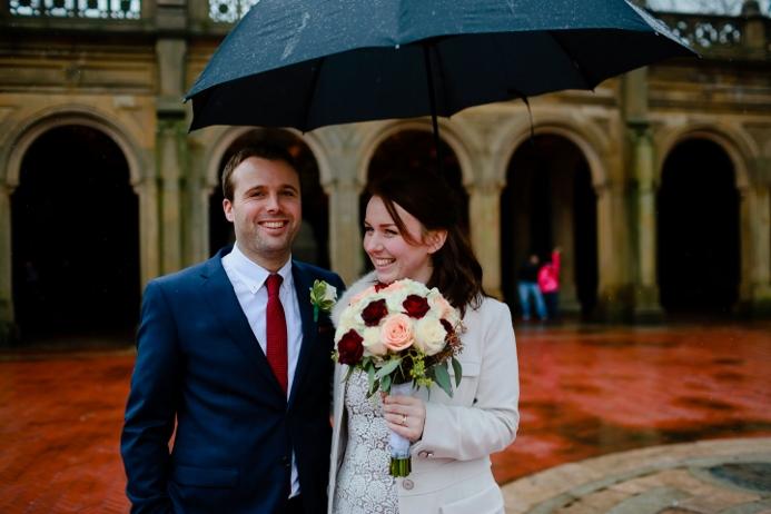 Winter Wedding In Central Park Bethesda Fountain Terrace