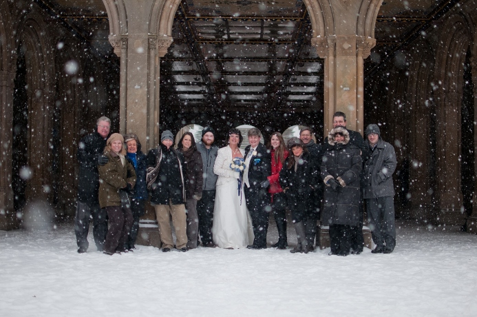 winter-wedding-central-park-bethesda-group-photo