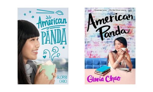 Hardcover and paperback cover designs of American Panda by Gloria Chao