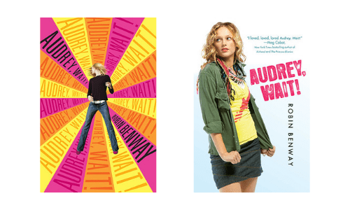 Hardcover and paperback cover designs of Audrey Wait by Robin Benway
