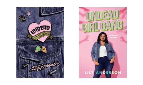 Hardcover and paperback cover designs of Undead Girl Gang by Lil Anderson