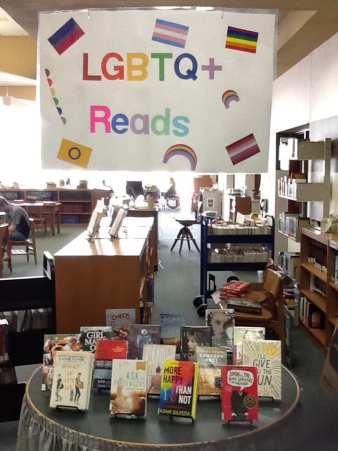 Justina's Book Display - 30 Days of Pride