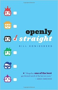 Cover of Openly Straight by Bill Konigsberg