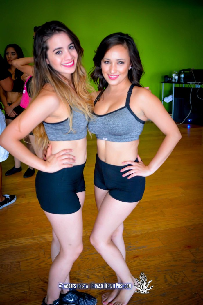 El Paso Coyotes Dance team Captains Karen Portillo (pictured left) and Stephanie Rodriguez (pictured right)