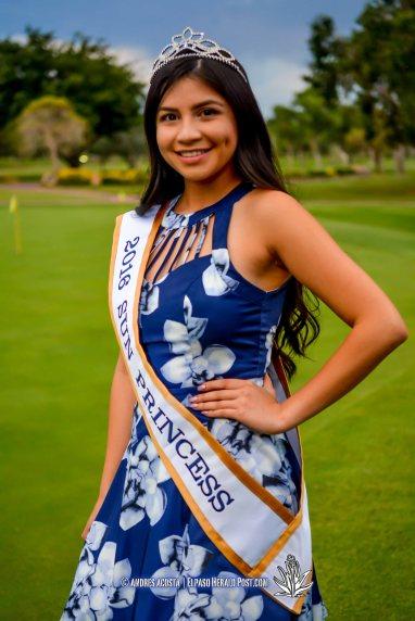 2016 Sun Princess Kayla Quintero at the 2016 Sun Court Coronation at the El Paso Country Club