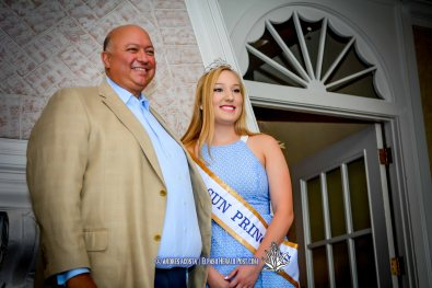 2016 Sun Bowl President Steve Beltran and Sun Princess Emery Henschel at the 2016 Sun Court Coronation at the El Paso Country Club