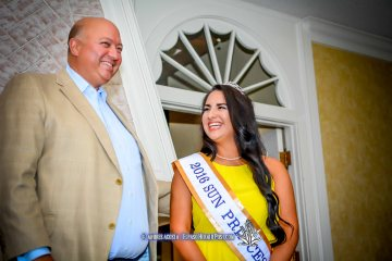 2016 Sun Bowl President Steve Beltran and Sun Princess Ariana Martell at the 2016 Sun Court Coronation at the El Paso Country Club