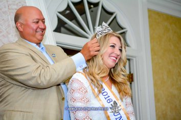 2016 Sun Bowl President Steve Beltran and 2016 Sun Queen Katerine Carroll-Miller at the 2016 Sun Court Coronation at the El Paso Country Club