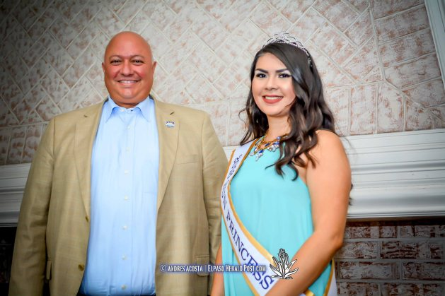 2016 Sun Bowl President Steve Beltran and Sun Princess Stephanie Figueroa at the 2016 Sun Court Coronation at the El Paso Country Club