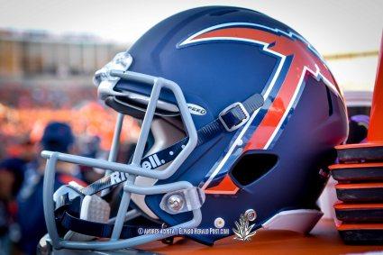 UTEP's new helmet design NMSU vs UTEP at the Sunbowl