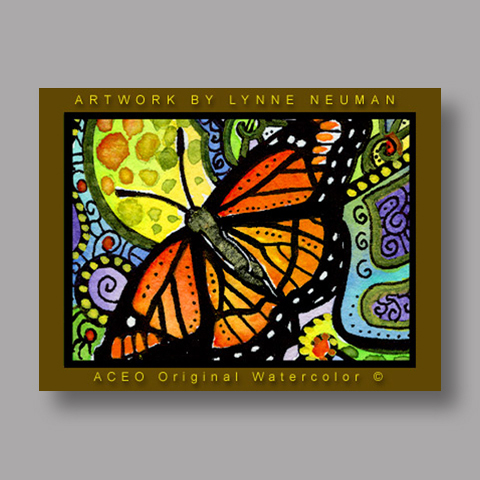 Signed ACEO Print *Monarch Butterfly #159* by Lynne Neuman