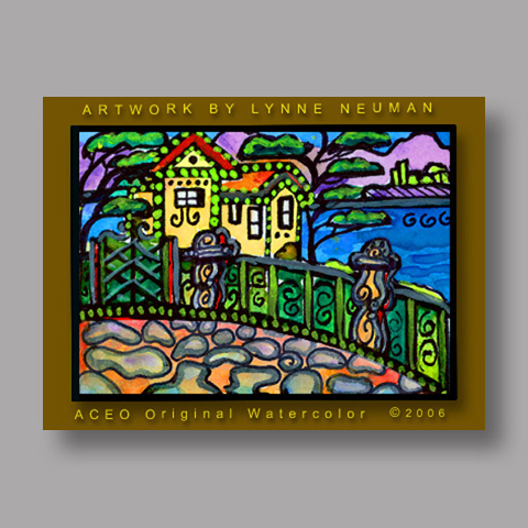Signed ACEO Print *Italian Villa Italy #226* by Lynne Neuman