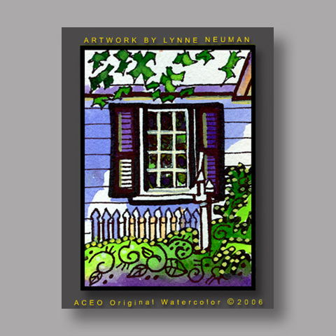 Signed ACEO *Ohio Colonial House #265* by Lynne Neuman