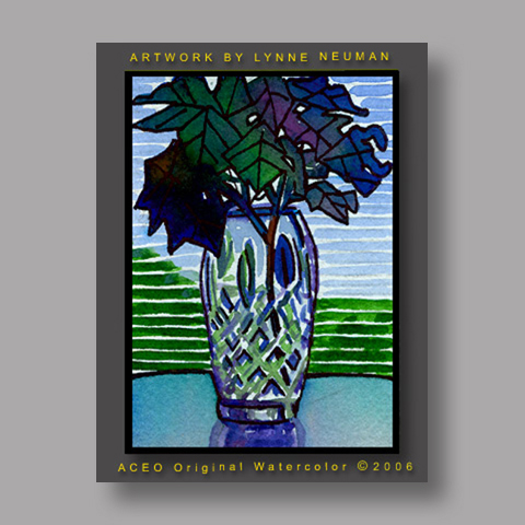 Signed ACEO Print *Crystal Vase #271* by Lynne Neuman