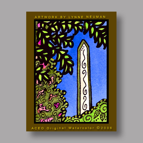 Signed ACEO Print *Washington Monument #471* by Lynne Neuman