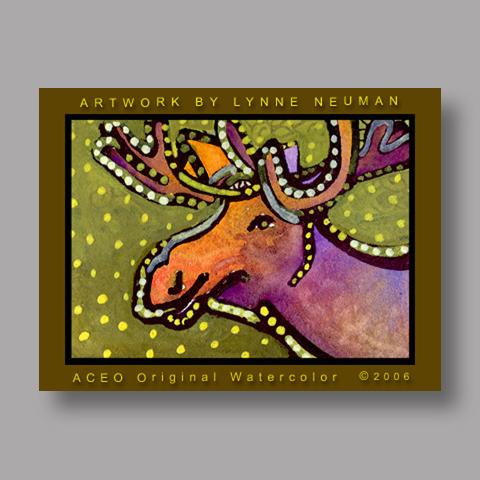 Signed ACEO Print *Alaskan Moose #506* by Lynne Neuman