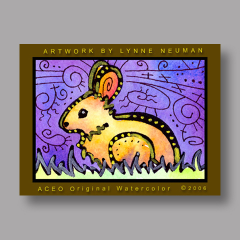 Signed ACEO Print *Bunny Rabbit #579* by Lynne Neuman