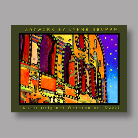 Signed ACEO *Coliseum Rome Italy #728* by Lynne Neuman