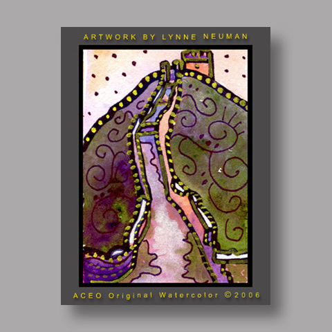 Signed ACEO *Great Wall of China #866* by Lynne Neuman