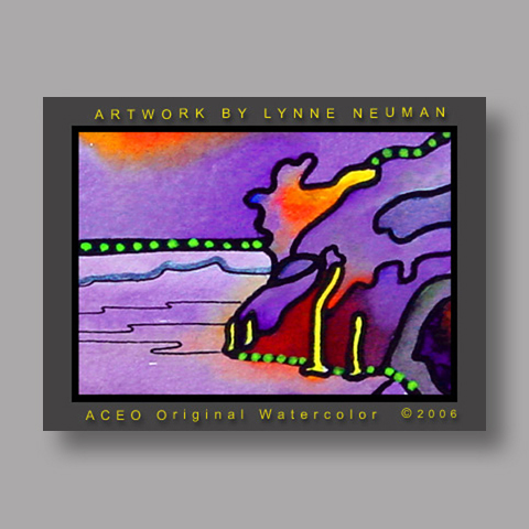 Signed ACEO Print *Volcano Hawaii #1101* by Lynne Neuman