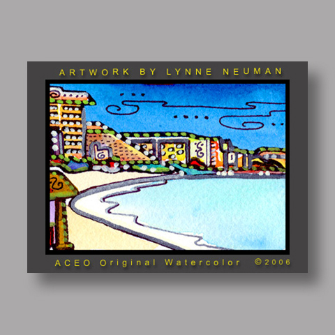 Signed ACEO Print *Cancun Mexico #1149* by Lynne Neuman