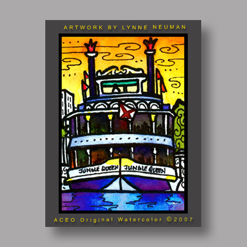 Signed ACEO *Ft. Lauderdale Florida #1422* by Lynne Neuman