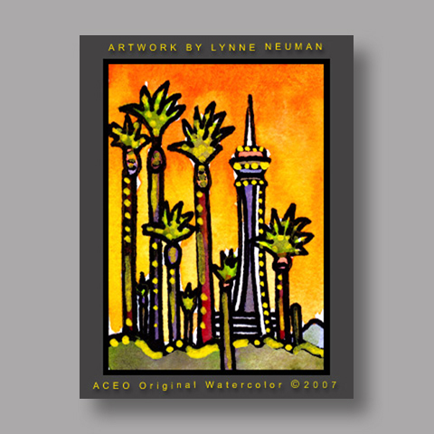 Signed ACEO *Las Vegas #1611* by Lynne Neuman