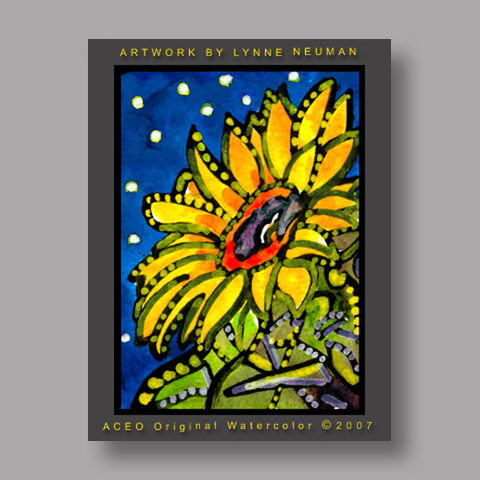 Signed ACEO Print *Sunflower #1706* by Lynne Neuman