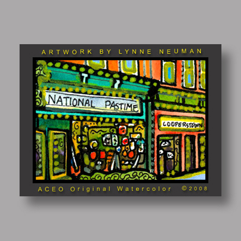 Signed ACEO Print *Cooperstown New York #2015* by Lynne Neuman