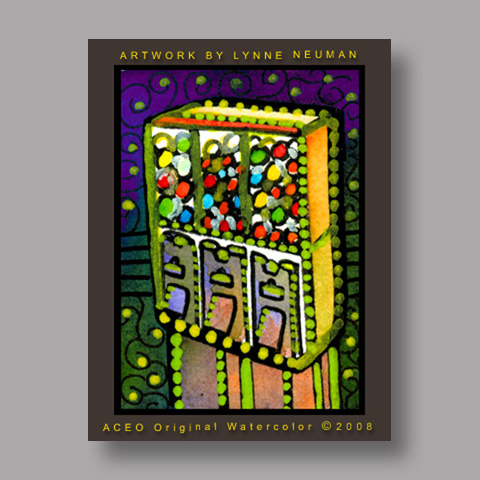 Signed ACEO Print *Gumball Machines #2061* by Lynne Neuman