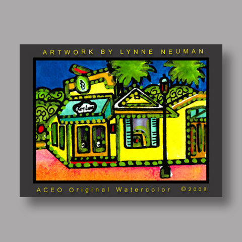 Signed ACEO *Key Lime Key West Florida #2078* by Lynne Neuman