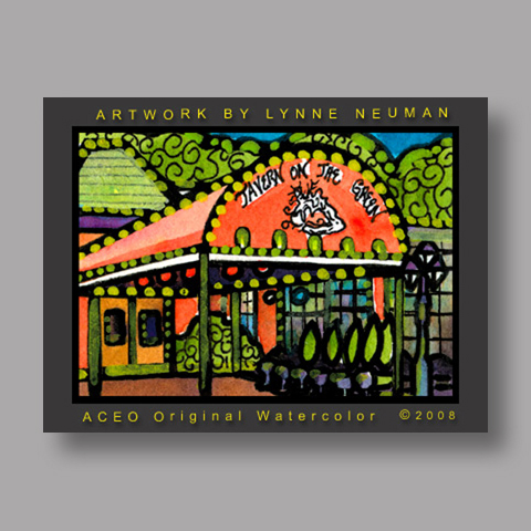 Signed ACEO Print *New York Tavern on Green #2103* by Lynne Neuman