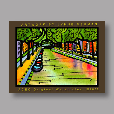 Signed ACEO *Amsterdam #2117* by Lynne Neuman
