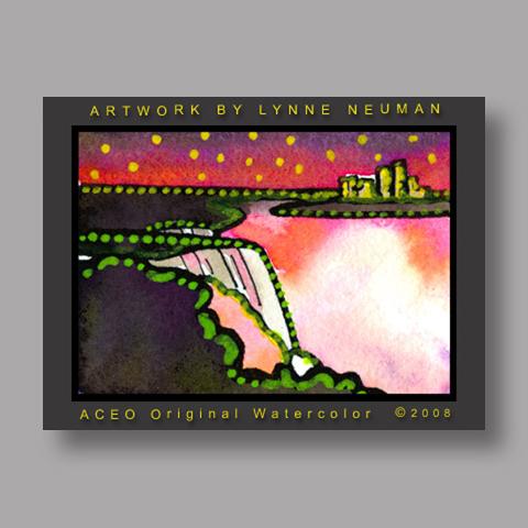 Signed ACEO Print *Niagara Falls #2136* by Lynne Neuman